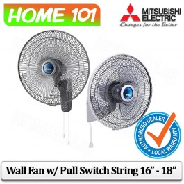 Mitsubishi Wall Fan With Pull Switch Strings 16 Inch - 18 Inch [W16G][W18G]