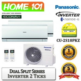 Panasonic Dual Split Series Multi Split AirCon [System 2] Ava in CU-2S18PKZ