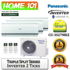 Panasonic Triple Split Series Multi Split AirCon [System 3] Ava in CU-3S27MKZ