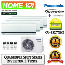 Panasonic Quadruple Split Series Multi Split AirCon [System 4] Ava in CU-4S27NKZ