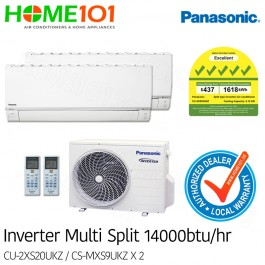 Panasonic Multi-Split AirCon *with FREE Replacement Service* - [SYSTEM. 2] CU-2XS20UKZ/CS-MXS9UKZ X 2