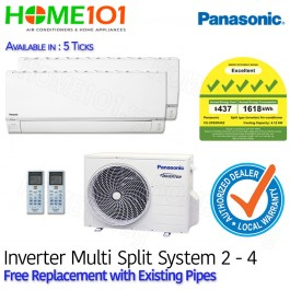 Panasonic Multi Split AirCon [SYSTEM. 2] *with FREE Replacement Service*