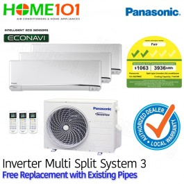 Panasonic Multi Split AirCon [SYSTEM. 3] *with FREE Replacement Service*