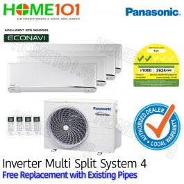 Panasonic Multi Split AirCon [SYSTEM. 4] *with FREE Replacement Service*
