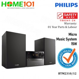 Philips Micro Music System 15W with CD/Mp3/FM/USB/Bluetooth BTM2310/12