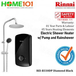 Rinnai Electric Instant Water Heater With Crystal Series REI-B330DP BLACK