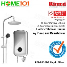 Rinnai Electric Instant Water Heater With Crystal Series REI-B330DP SILVER