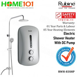 Rubine Electric Shower Heater with DC Pump RWH-83SHP