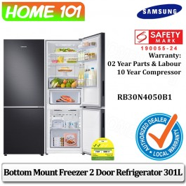 Samsung Bottom Mount Freezer 2 Door Refrigerator 301L RB30N4050B1