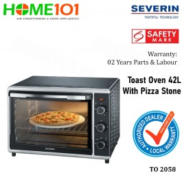Severin Toast Oven With Pizza Stone 42L TO 2058