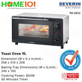 Severin Toast Oven 9L 800W TO 2052