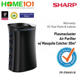 Sharp Plasmacluster Air Purifier With Mosquito Catcher FP-FM40Y-B [30m2]