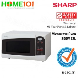 Sharp Microwave 800W 22L R-25C1(S)