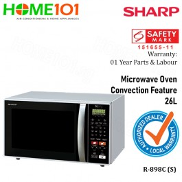 Sharp Microwave 26L Grill Convection R-898C (S)