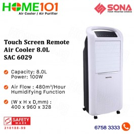 Sona Touch Screen Remote  Air Cooler 8.0L SAC 6029