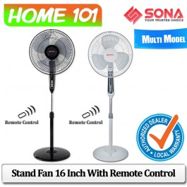 Sona Stand Fan 16 inch with Remote Control