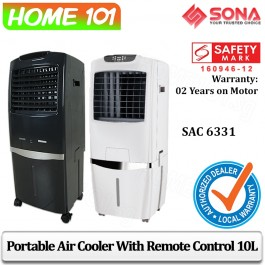 Sona Evaportative Air Cooler 30L Remote Ctrl SAC6331 White (Stk Arr Est Beginning May)
