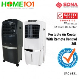 Sona Evaportative Air Cooler 30L Remote Ctrl SAC6331 White