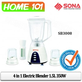 Sona 4 In 1 Blender 1.5L 350W SB3008