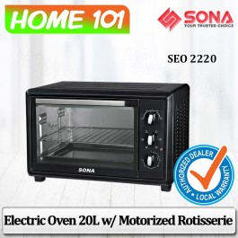 Sona Electric Oven 20L W/Motorized Rotisserie SEO 2220