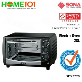 Sona Electric Oven 28L W/Motorized Rotisserie SEO 2229