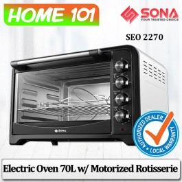 Sona Electric Oven 70L W/Motorized Rotisserie SEO 2270