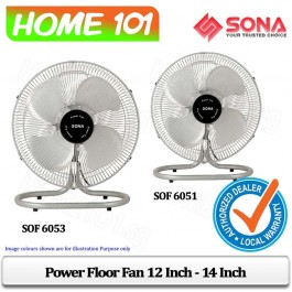 Sona Power Floor Fan 12 Inch to 14 Inch SOF6051/SOF6053