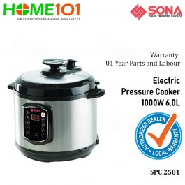 Sona Electric Pressure Cooker 1000W 6.0L SPC2501