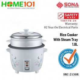 Sona Rice Cooker With Steam Tray 1.8L SRC 2130R