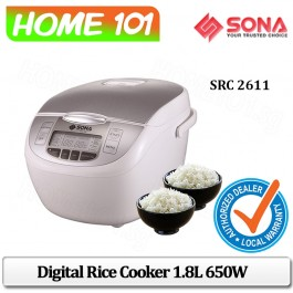 Sona Digital Rice Cooker 1.8L 650W SRC 2611