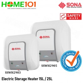 Sona Electric Storage Water Heater 15L / 25L [SSWH2903][SSWH2905]