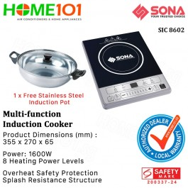 Sona Multi-function Induction Cooker SIC 8602