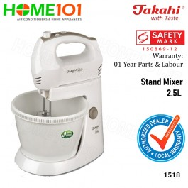Takahi Stand Mixer and Bowl 2.5L 1518
