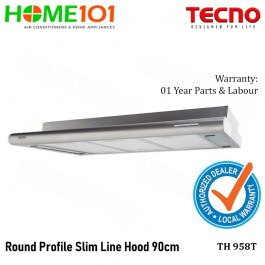 Tecno Slim Line Cooker Hood With Round Profile 90cm TH958T