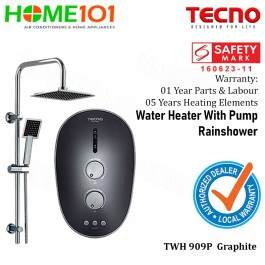Tecno Electric Instant Water Heater and Rainshower TWH909P GRAPHITE