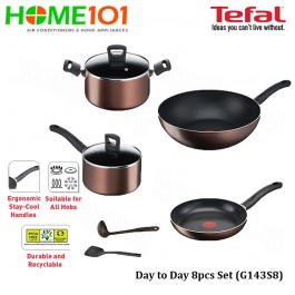 Tefal Cookware Day to Day 8pcs Set G143S8