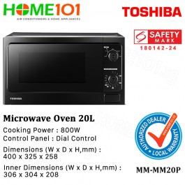 Toshiba Microwave Oven 800w 20L MM-MM20P Black
