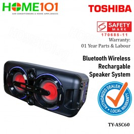 Toshiba Bluetooth Wireless Rechargeable Speaker System TY-ASC60