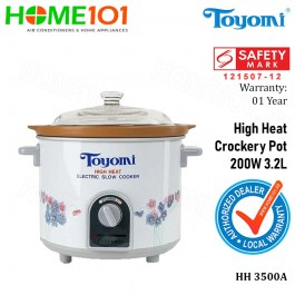 Toyomi High Heat Crockery Pot 200W 3.2L HH3500A