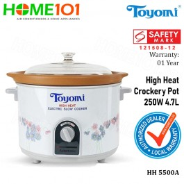 Toyomi High Heat Crockery Pot 250W 4.7L HH5500A