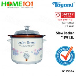 Toyomi LUCKY BRAND Slow Cooker 115W 1.3L SC 1500A
