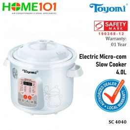 Toyomi Electric Micro-com Slow Cooker 4.0L SC 4040