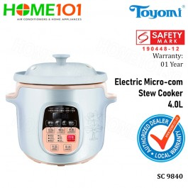 Toyomi Electric Micro-com Stew Cooker 4.0L SC 9840