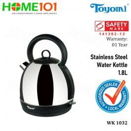 Toyomi Stainless Steel Water Kettle 1.8L WK 1032