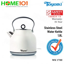 Toyomi Stainless Steel Water Kettle 1.8L WK 1700