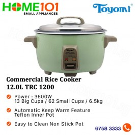 Toyomi Commercial Rice Cooker 12.0L TRC 1200