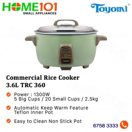 Toyomi Commercial Rice Cooker 3.6L TRC 360