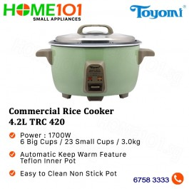 Toyomi Commercial Rice Cooker 4.2L TRC 420