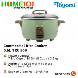 Toyomi Commercial Rice Cooker 5.6L TRC 560