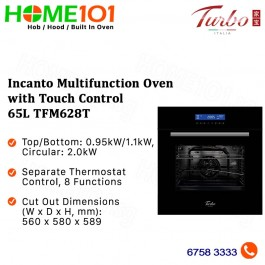 Turbo Incanto Multifunction Oven with Touch Control 65L TFM628T - (STOCK ARR END OCT)